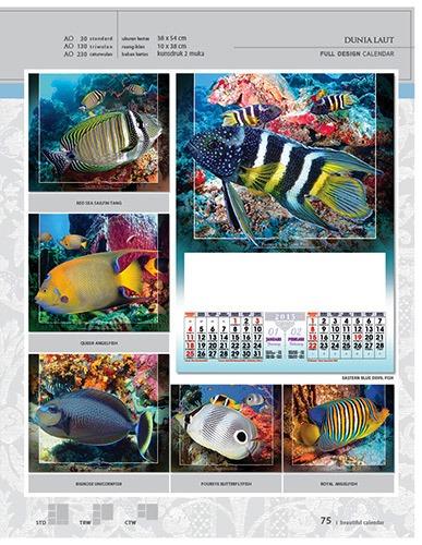 Kalender 2015 Desain Standar Full AO Print Cetak - Kalender 2015 Desain Standar Full - AO 30 - Dunia Laut