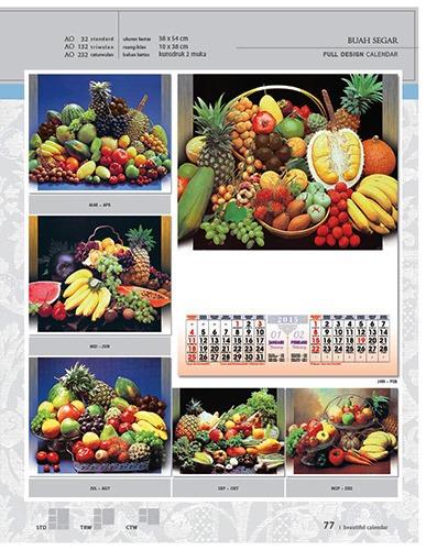Kalender 2015 Desain Standar Full AO Print Cetak - Kalender 2015 Desain Standar Full - AO 32 - Buah Segar