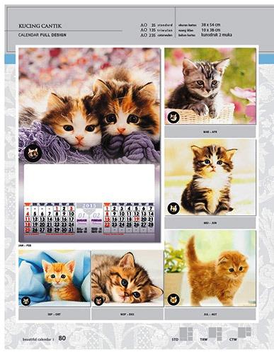 Kalender 2015 Desain Standar Full AO Print Cetak - Kalender 2015 Desain Standar Full - AO 35 - Kucing Cantik