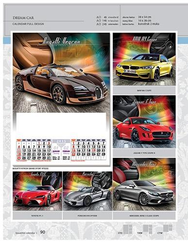 Kalender 2015 Desain Standar Full AO Print Cetak - Kalender 2015 Desain Standar Full - AO 45 - Dream Car