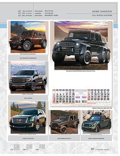 Kalender 2015 Desain Standar Full AO Print Cetak - Kalender 2015 Desain Standar Full - AO 46 - Transportasi Mobil Tangguh