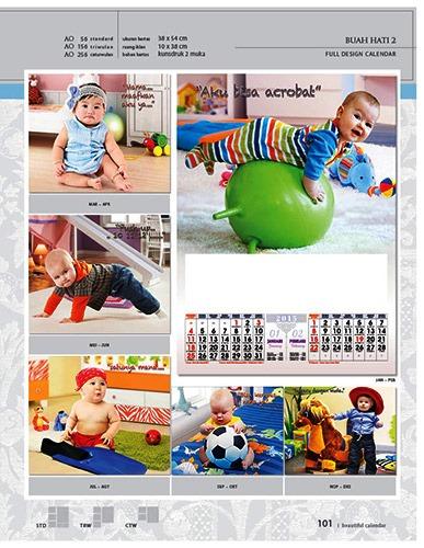 Kalender 2015 Desain Standar Full AO Print Cetak - Kalender 2015 Desain Standar Full - AO 49 - Buah Hati