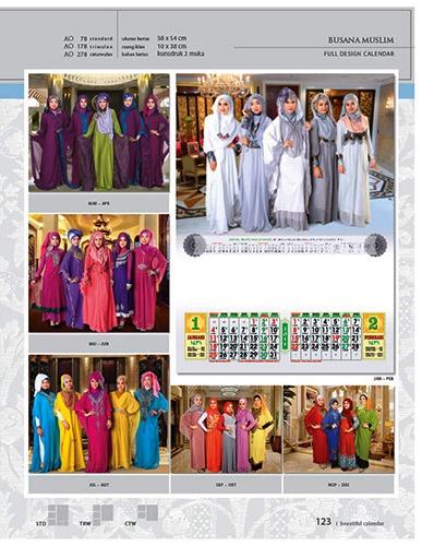 Kalender 2015 Desain Standar Full AO Print Cetak - Kalender 2015 Desain Standar Full - AO 78 - Busana Muslim