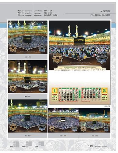 Kalender 2015 Desain Standar Full AO Print Cetak - Kalender 2015 Desain Standar Full - AO 84 - Mekkah