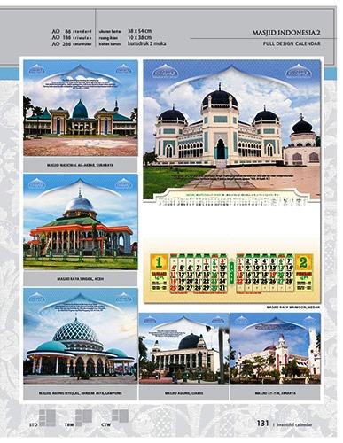 Kalender 2015 Desain Standar Full AO Print Cetak - Kalender 2015 Desain Standar Full - AO 86 - Masjid Indonesia 2