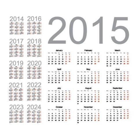 2015-to-2024-New-year-Vector-calendar-Kalender-2015-Desain ...