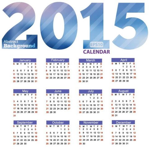 Big-Blue-2015-Text-with-New-year-Vector-Calendar-template-Kalender-2015-Desain-Unik-Jpg-Printable-dan-Template-Free-Download