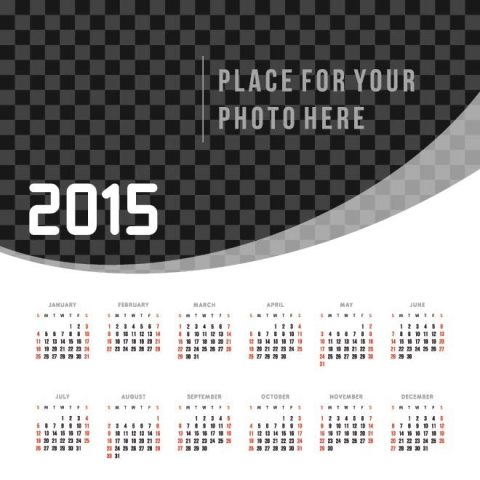 Black-and-white-pattern-background-2015-Vector-Calendar ...