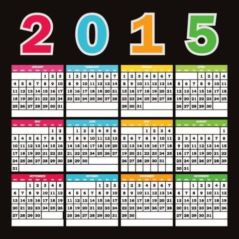 Colorful-text-2015-Vector-Calendar-template-Kalender-2015-Desain-Unik-Jpg-Printable-dan-Template-Free-Download