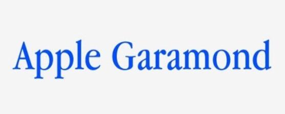 Font Unik - Apple Garamond