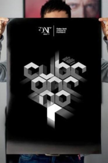 Font Unik - Cube