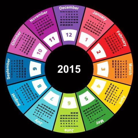 Geometric-shape-circle-colorful-2015-vector-calendar-template-Kalender-2015-Desain-Unik-Jpg-Printable-dan-Template-Free-Download