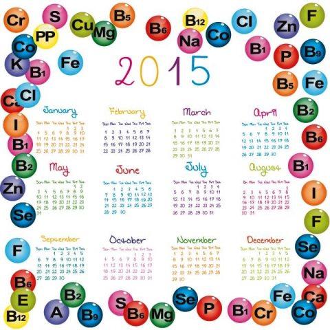 Glossy-vitamins-circle-around-2015-Vector-Calendar-Kalender-2015-Desain-Unik-Jpg-Printable-dan-Template-Free-Download
