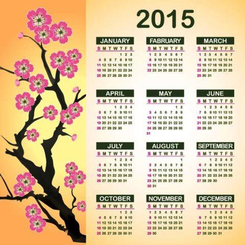 Green-and-Pink-2015-Vector-calendar-with-flower-Kalender-2015-Desain-Unik-Jpg-Printable-dan-Template-Free-Download