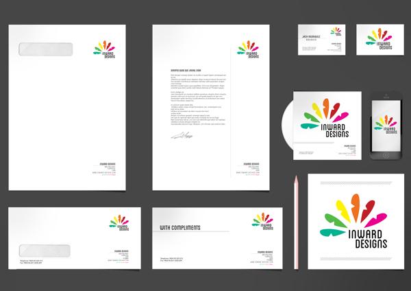 17 Kop Surat dengan Desain Elegan - Inward Designs Corporate Identity - Kop Surat Desain Elegan