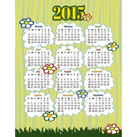 Kids-art-work-Happy-New-Year-2015-Vector-Calendar-Kalender-2015-Desain-Unik-Jpg-Printable-dan-Template-Free-Download