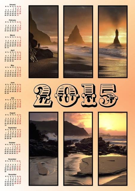 Printable-Calender-2015-Format-JPEG-Warna-Coklat-Kekuningan-Gbr-Pemandangan-Pantai