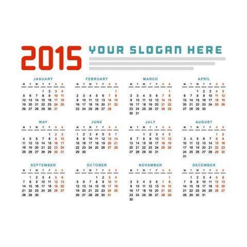 Red-and-turquoise-text-2015-Vector-Calendar-Kalender-2015-Desain-Unik-Jpg-Printable-dan-Template-Free-Download