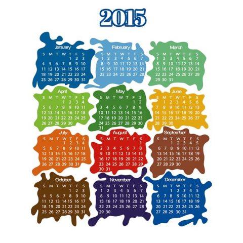Vector-Paint-splash-shape-2015-vector-calendar-Kalender-2015-Desain-Unik-Jpg-Printable-dan-Template-Free-Download