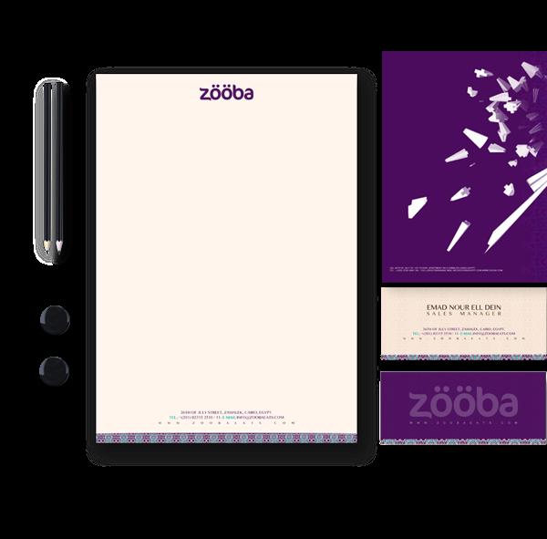17 Kop Surat dengan Desain Elegan - Zooba-(corporate-identity-) - Stationary - Kop Surat Desain Elegan