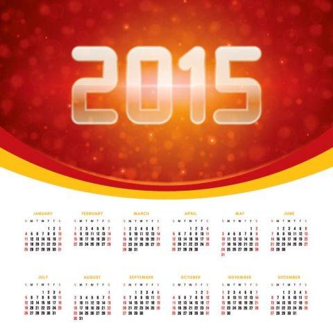beautiful-glowing-2015-text-red-banner-American-2015-vector-calendar-Kalender-2015-Desain-Unik-Jpg-Printable-dan-Template-Free-Download