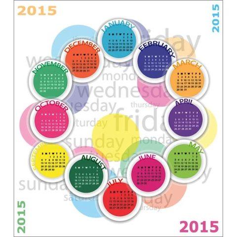 colorful-circle-pattern-2015-Vector-calendar-Kalender-2015-Desain-Unik-Jpg-Printable-dan-Template-Free-Download