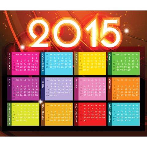 colorful-month-block-with-glowing-2015-typography-header-Kalender-2015-Desain-Unik-Jpg-Printable-dan-Template-Free-Download