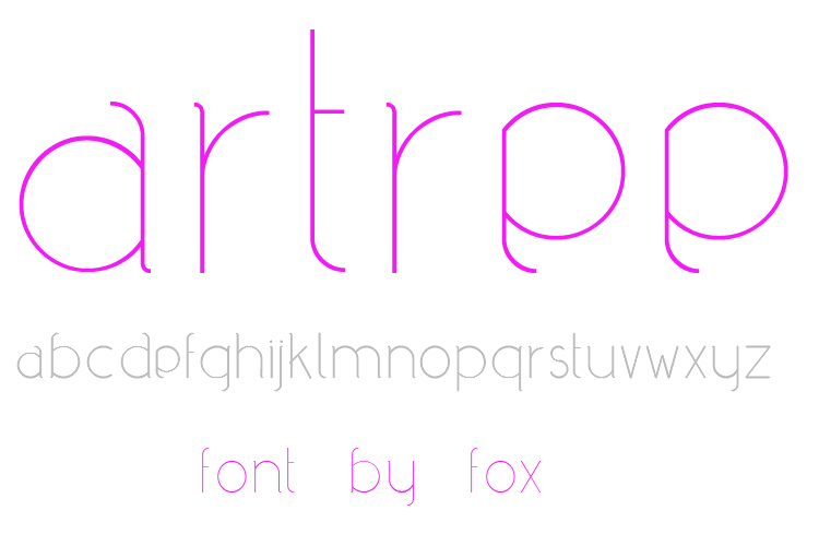 download font gratis - Artree Free True Type Font