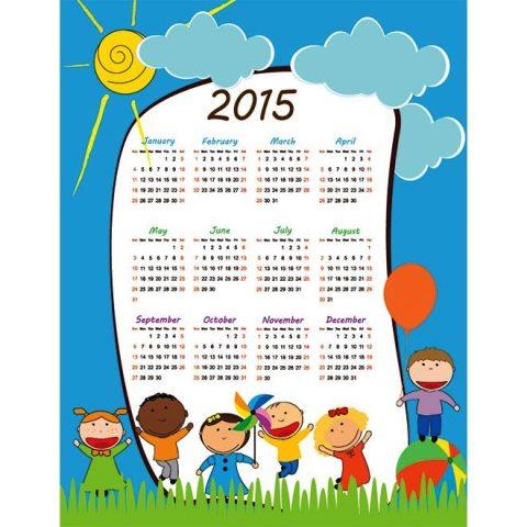 kids-playing-in-park-Happy-children-2015-Vector-Calendar-Kalender-2015-Desain-Unik-Jpg-Printable-dan-Template-Free-Download