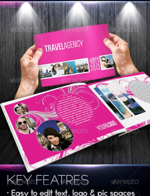 25 Contoh Desain Brosur Tour Dan Travel Terbaik - Brosur-Tour-dan-Travel-Fancy-Travel-Agency-Catalogue-Brochure