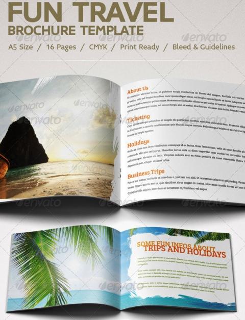 25 Contoh Desain Brosur Tour Dan Travel Terbaik - Brosur-Tour-dan-Travel-Fun-Travel-Brochure
