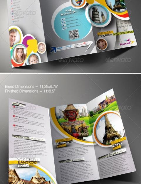 25 Contoh Desain Brosur Tour Dan Travel Terbaik - Brosur-Tour-dan-Travel-Travel-Agency-Trifold-Brochure-Template