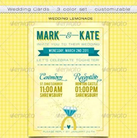 Desain Undangan Pernikahan Terbaik Template Photoshop - Contoh Desain Undangan Pernikahan Terbaik - Customizable Wedding Cards