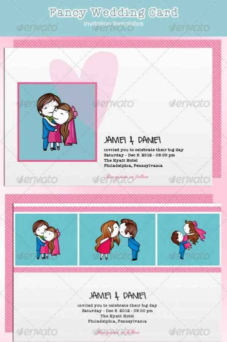 Desain Undangan Pernikahan Terbaik Template Photoshop - Contoh Desain Undangan Pernikahan Terbaik - Fancy Wedding Card