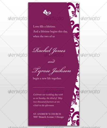 Desain Undangan Pernikahan Terbaik Template Photoshop - Contoh Desain Undangan Pernikahan Terbaik - Passion Wedding Card
