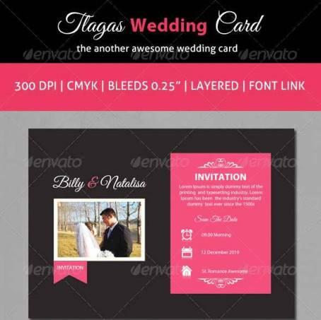 Desain Undangan Pernikahan Terbaik Template Photoshop - Contoh Desain Undangan Pernikahan Terbaik - Tlagas Wedding Cards