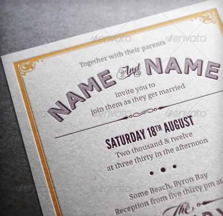Contoh Desain Undangan Pernikahan Terbaik - Vintage Wedding Invitation & RSVP