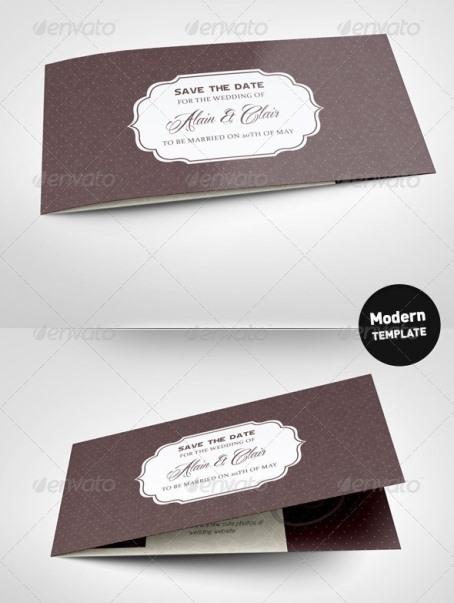 Desain Undangan Pernikahan Terbaik Template Photoshop -