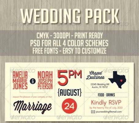 Desain Undangan Pernikahan Terbaik Template Photoshop - Contoh Desain Undangan Pernikahan Terbaik - Wedding Invitation and Save The Date