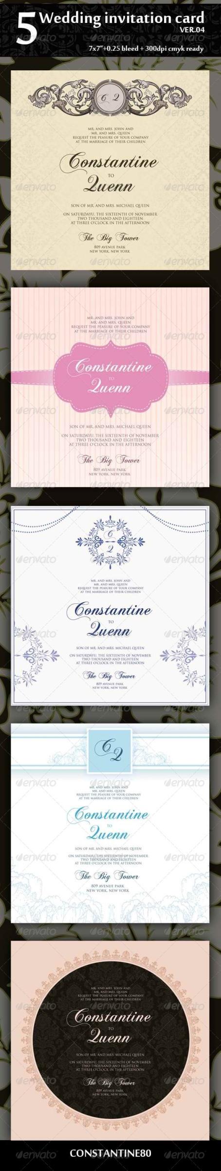 Desain Undangan Pernikahan Terbaik Template Photoshop - Desain-Undangan-Nikah-5-Wedding-Invitation-7×7-Ver-04