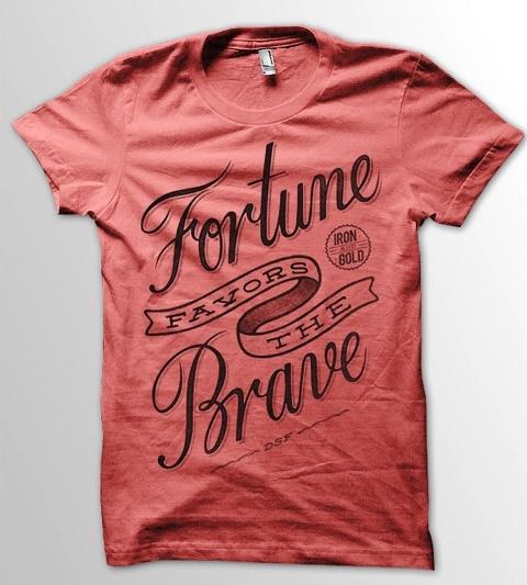 27 contoh kaos dengan desain keren - Desain kaos keren - Fortune Favors