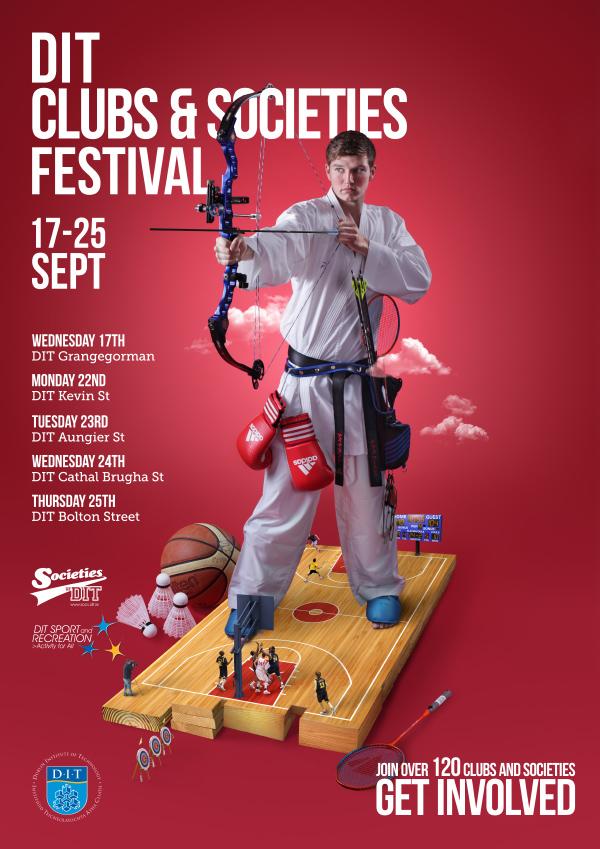 Poster Keren Desain Modern - DIT Clubs & Socs Fest Posters