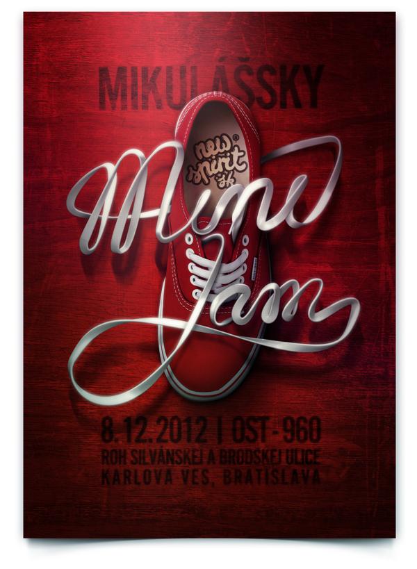 25 Contoh Poster Keren dengan Desain Modern - Poster-Keren-Desain-Modern-Mini-Jam-Poster