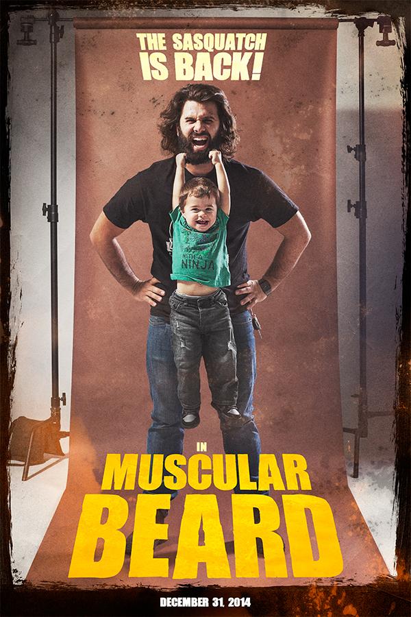 25 Contoh Poster Keren dengan Desain Modern - Poster-Keren-Desain-Modern-Muscular-Beard