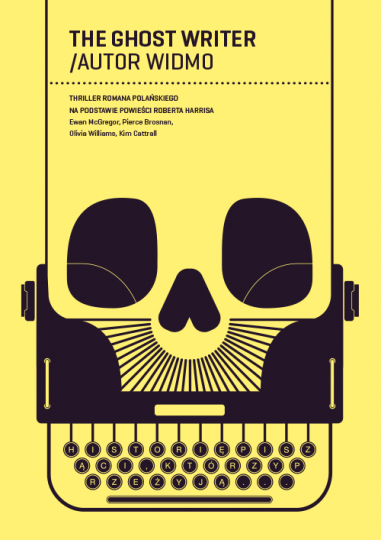 46 Contoh Poster Desain Inspiratif - Poster-inspiratif-tentang-Ghost-Writer-oleh-Hubert-Tereszkiewicz