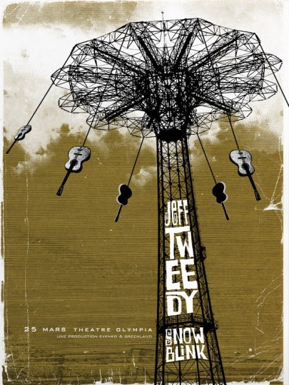 46 Contoh Poster Desain Inspiratif - Poster-inspiratif-tentang-Jeff-Tweedy-Three-Color-Screen-Print-oleh-Path-Poster-Designs