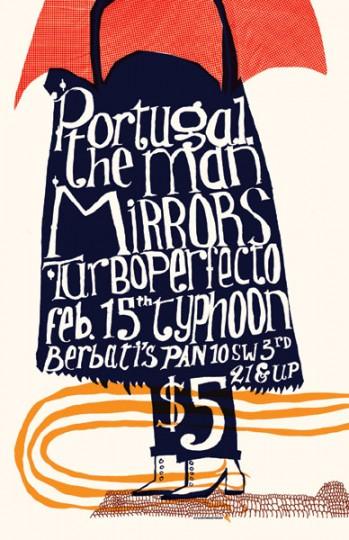 46 Contoh Poster Desain Inspiratif - Poster-inspiratif-tentang-Portugal-The-Man-Mirrors-oleh-Austin-Sellers