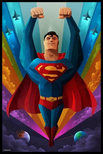 Poster inspiratif tentang Superman yang didesain oleh James White