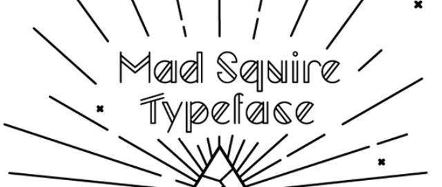 30 Koleksi Font Terbaik untuk Desain - Mad Squire Typeface Free font