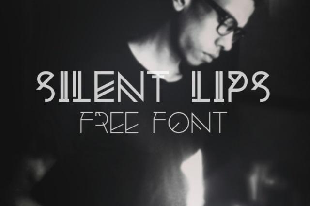 30 Koleksi Font Terbaik untuk Desain - Silent Lips Experimental Free Font